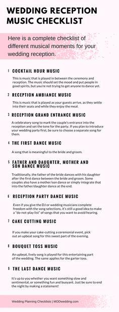 9 Best Reception Checklist Images Wedding Ideas Wedding Ceremony