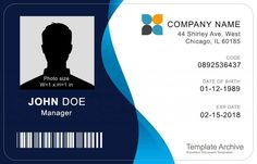 Id Card Design Template Inspirational 16 Id Badge & Id Card Templates Free Template Archive Pamphlet Template, Id Card Template, Card Templates, Crown Template, Heart Template, Applique Templates, Flower Template, Applique Patterns, Design Templates