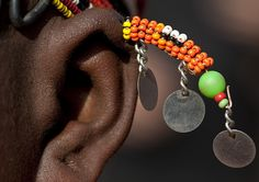 Rendille ear ornament - Kenya by Eric Lafforgue, via Flickr