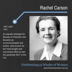 52 Weeks of Women - March - Finance Women Rachel Carson, 52 Weeks, Environmentalist, Biologist, Conception, Read More, How To Find Out, Finance, Campaign