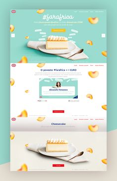 Dribbble - by Delia Food Web Design, Menu Design, Web Design Trends, Design Ideas, Website Design Layout, Layout Design, Bakery Website, Cake Logo Design, Food Branding