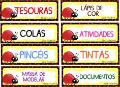 Etiquetas para organizar material Joaninhas                                                                                           Mais