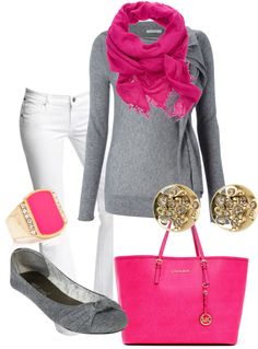 """pink and gold"" by karenamber ❤ liked on Polyvore"