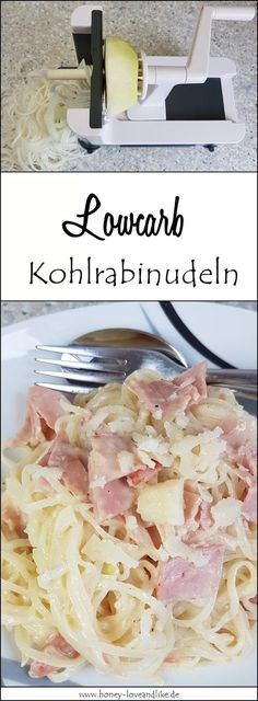 So fix you make real Lowcarb Carbonara with Kohlrabinudeln - Food and Drinks Ideas Low Carb Recipes, Healthy Recipes, Easy Recipes, Paleo Dinner, Dinner Recipes, Paleo Dessert, Low Carb Diet, International Recipes, Food Inspiration