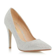 Head Over Heels by Dune Silver-glitter 'Audrine' pointed toe court shoe- at Debenhams.com