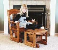 19-w2319 - Glider Rocker For Children Woodworking Plan - Woodworkersworkshop®…