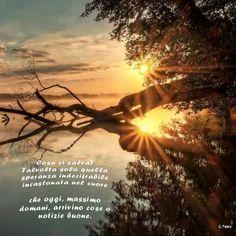 Buona giornata - Cosa ci salva? Talvolta solo quella speranza indecifrabile incastonata nel cuore che oggi, massimo domani, arrivino cose o notizie buone.