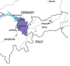 Lake Constance has shores in 3 countries