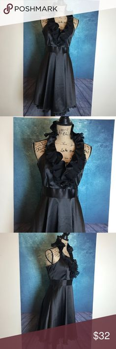 WHBM Black Ruffle Halter Cocktail Party Dress 2 The zipper isnt broken the dress is a little too small for mannequin   MEASUREMENTS∴ in inch  Pit to Pit>17 Shoulder to Shoulder> Length---->37  Measurements Are Approximate  And May Vary Slightly.  #4 White House Black Market Dresses Prom