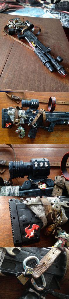 Postapo Gun by ZlaKalamarnica.deviantart.com on @DeviantArt  #gun #craft #postapo #postapocalypse #postapocalyptic