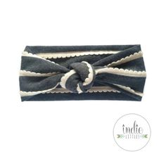 Gray Scallop Turban by Indie Littles on Etsy. $9.50 #indielittles #headbands #turbans #etsy #handmade
