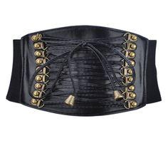 "Retro Style 4"" Wide Elastic Corset Waist Belt - Black TopTie, to complete the jessica rabbit waist."