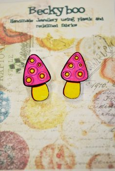 'Alice' shrink plastic earrings £4.00