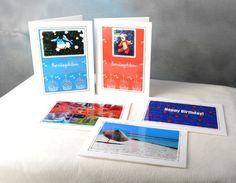 Kortpakke med 5 stk doble kort