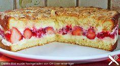 Chefkoch.de Rezept: Pellwormer Bienenstich mit Erdbeeren