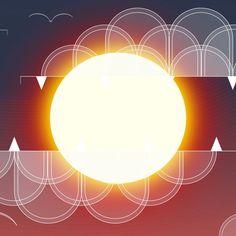 1224x1224 Sun, clouds, digital art wallpaper