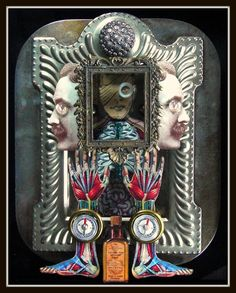 Mixed Media Assemblage Artist   Mixed Media Collage Assemblages by Greg Hanson   Art & Artists ...