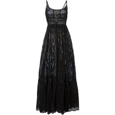 Valentino lace panel maxi dress ($3,435) ❤ liked on Polyvore featuring dresses, gowns, valentino, long dress, maxi dress, black, valentino evening gowns, maxi gowns, valentino dresses and lace insert dress