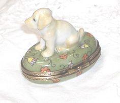 Limoges Yellow Labrador Retriever Puppy