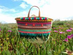 pompon en laine sac originale nature ciel claire ete