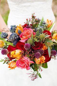 boho wedding bouquet / http://www.himisspuff.com/boho-rustic-wildflower-wedding-ideas/2/