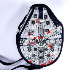 Lego Star Wars Millennium Falcon Messenger Bag Carrying Case Play Set   eBay