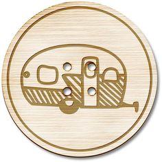 'Static Caravan' Wooden / Acrylic Buttons (vBT0018897)