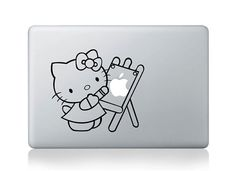 Hello Kitty  Mac Decal Macbook Stickers Macbook by HappyDecal, $6.99