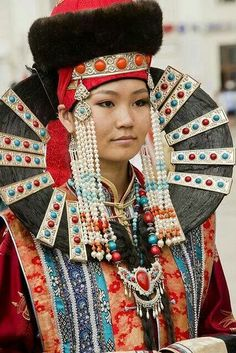 Mongolian native costume