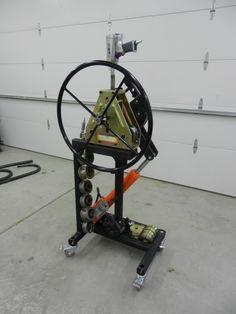 Воздух / гидравлический для гибки рамки - JD2 Бендер трубки + HF трубки ролик - Гараж Журнал совет