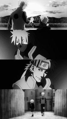 Naruto Shippuden - Sakumo (father) and Kakashi (son) :') Naruto Shippuden, Kakashi Hatake, Naruto E Boruto, Sarada Uchiha, Naruto And Sasuke, Gaara, Anime Naruto, Sad Anime, Manga Anime