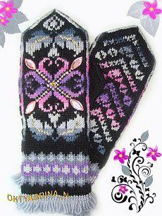 Knitted Mittens Pattern, Fair Isle Knitting Patterns, Knitting Charts, Knit Mittens, Knitted Gloves, Knitting Yarn, Baby Knitting, Knit Or Crochet, Filet Crochet
