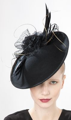 Jane Taylor Millinery, A/W 2014. Jade - Rose & Wing Disc.  #passion4hats