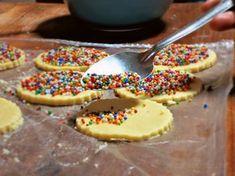 Rainbow Sprinkle Polvorones / Mexican Shortbread Cookies