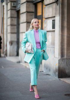 Les tendances mode de l'automne-hiver 2020-2021 Color Combinations For Clothes, Color Blocking Outfits, Colourful Outfits, Colorful Fashion, Style Outfits, Fashion Outfits, Milan Men's Fashion Week, Fashion Trends, Ohh Couture