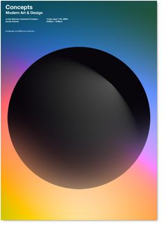 Conceitos é a exposição da AIC galeria principal. Artistas de todo o mundo estão convidados para o show trimestral, apresentando as tendências atuais em arte e design.