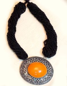 #Necklaces - Black Bead Work Necklace Costs Rs. 1,150. #Jewellery. BUY it here: http://www.artisangilt.com/catalog/product/view/id/21833/s/black-bead-work-necklace/category/156?ref=pin