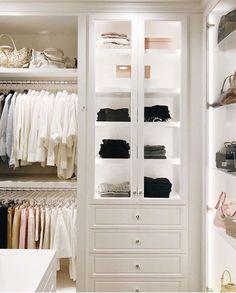 60 New Ideas For Small Closet Lighting Ideas Cabinets Best Closet Organization, Wardrobe Organisation, Organization Ideas, Dressing Room Closet, Wardrobe Closet, Closet Doors, Dressing Rooms, Closet Drawers, Vanity In Closet