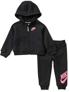 Nike Baby Girls 12-24 Months Hoodie and Pants Set