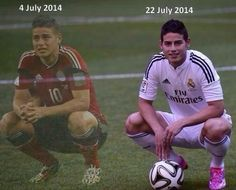 Great example of some horrible endings lead to great beginnings: James Rodriquez Real Madrid 2014, James Rodriguez Colombia, Football 2013, Making The Team, Soccer Pictures, Dont Tread On Me, Sad Day, Good Looking Men, Sports And Politics