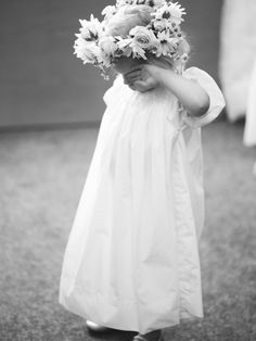 Flower girl in classic vintage dress.  | photography by http://kateholstein.com/