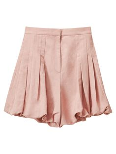 Puffed pink Bermuda shorts made from a viscose and linen Italian blend and woven with waxed thread for a marbled finish. Featuring pockets, zip fastening and flattering pleats giving fullness to the garment. Wear them with a pair of flat sandals for your daily looks, or dare to pair them with high heels for an extra oomph of sophistication. Part of the exclusive Limited Edition collection.