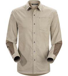 Merlon Shirt LS Men's Casual, long sleeved cotton blend corduroy shirt with contrasting canvas reinforcements.