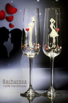 Svatební skleničky Flute, Wine Glass, Champagne, Tableware, Wedding Ideas, Dinnerware, Tablewares, Flutes, Dishes