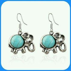 TIBETAN SILVER ELEPHANT EARRINGS Tibetan silver earrings Adorable for any occasion or gift 2.2-2.7 cm Non allergic❤✌ TIBETAN SILVER  Jewelry Earrings