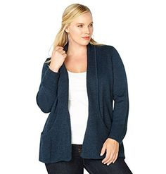 f54d330593 Solid Rayon Spandex Long Sleeve Jersey Cardigan Sweater Navy in 2019 ...