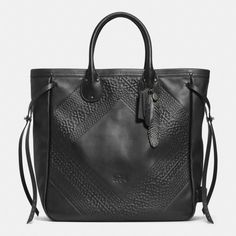 The Tatum Tall Tote In Tooling Leather from Coach
