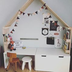 #speelhuisje #kids #interieurstyling #kidsplayroom #diy #ikeahack #stuva