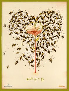 Will You Bee my Valentine? - poster from smallcanbebig.org