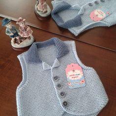 Tunus işi bebek yeleği #baby #knit #knitting #handmade #örgü